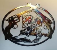 Cowboy Boots and Pistols, Western Wall Decor Metal Art, 23 ...
