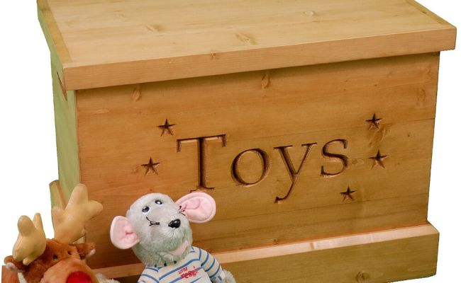 Handmade Solid Wooden Toy Box Carved Personalised Engraved