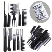 10 piece hair styling comb set