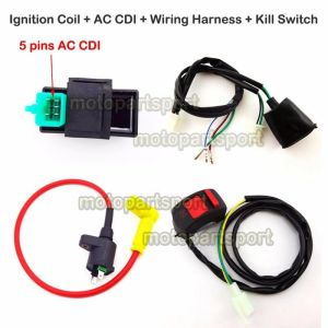 Ignition Coil AC CDI Wiring Loom Harness Kill Switch For 50160cc Pit Dirt Bike | eBay