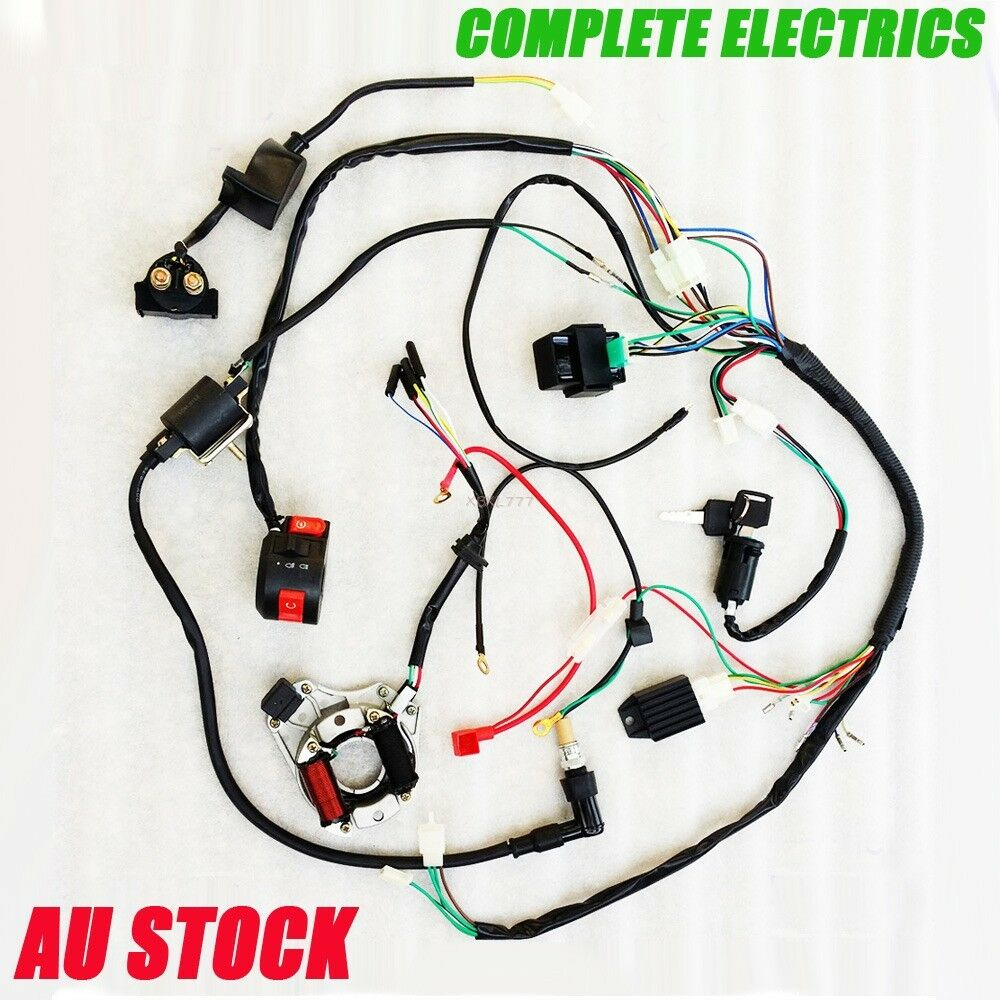 hight resolution of complete electrics quad 50 125cc ohc zongshen loncin generator coil harness cdi