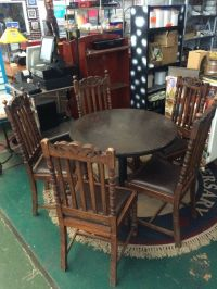 100 year Old Wooden Chairs with Table