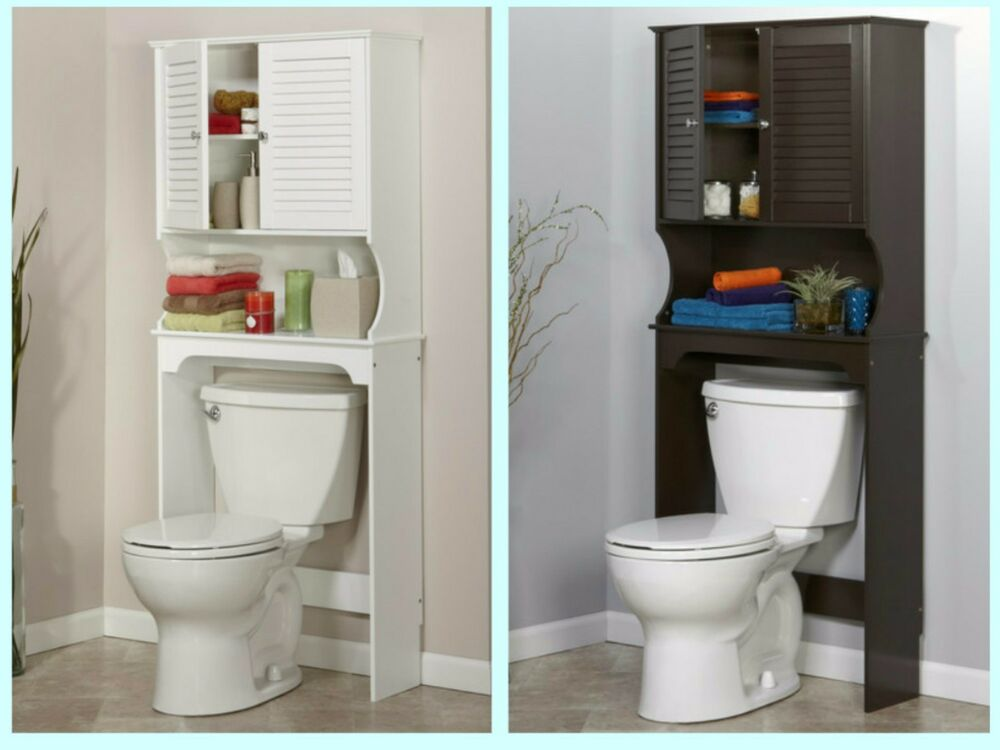 Bathroom Over The Toilet Space Saver Storage Cabinet Shelf