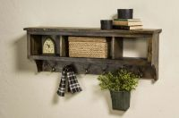 """Storage Wood cubby coat Rack 42"""" Wide With 3 Cubbies Wall ..."""