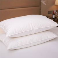 Pure Canadian Goose Down Filled Pillow,1800TC White 100% ...