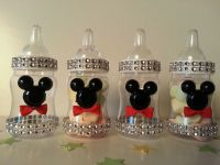 12 Mickey Mouse Fillable Bottles Baby Shower Favors Prizes ...