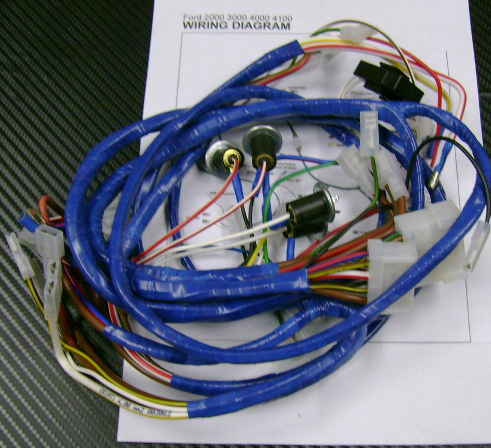 hight resolution of ford 2000 3000 4000 4100 tractor wiring harness loom for ford 8n wiring harness ford 9n wiring harness