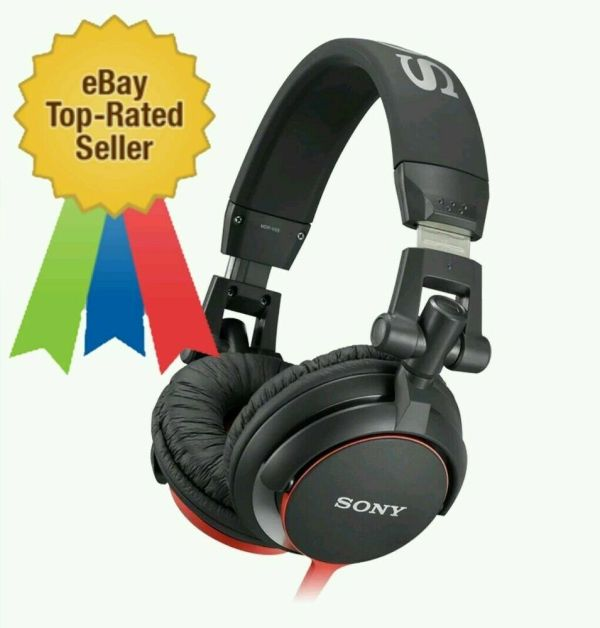 Sony Mdr-v55 Foldable Headphone Red Monitor Extra Bass Dj