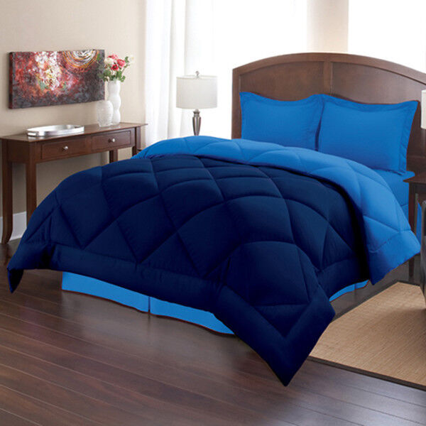 Comforter Set Queen Size Blue Navy Bed in a Bag Bedding
