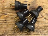 Vintage Lamp Plugs - 5 Black Vintage Electric Plugs Cloth ...