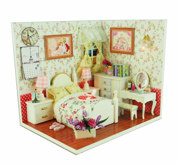 New Dollhouse Miniature DIY Kit Dolls House Room