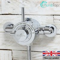 Exposed Modern Concentric Thermostatic Shower Mixer Valve