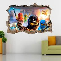 LEGO NINJAGO Smashed Wall 3D Decal Removable Graphic Wall ...