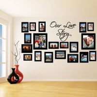 Vinyl Wall Decal Picture Frames, Our Love Story Photo ...