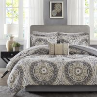BEAUTIFUL MODERN CHIC TROPICAL EXOTIC BED IN BAG TAUPE ...