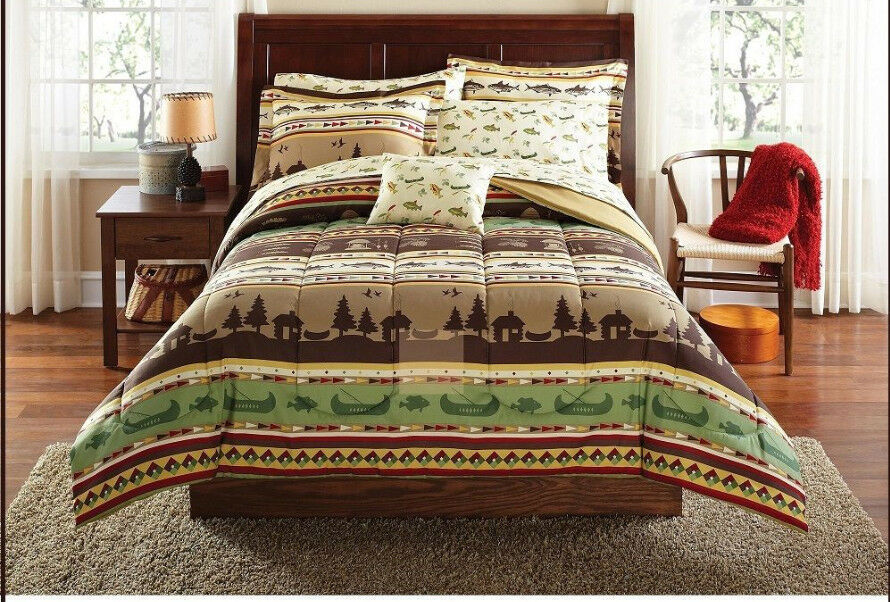 Bedding Comforter Set Bed in a Bag Twin Size Natural