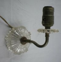 Vintage Clear Crystal Glass Wall Light Sconce Lamp | eBay