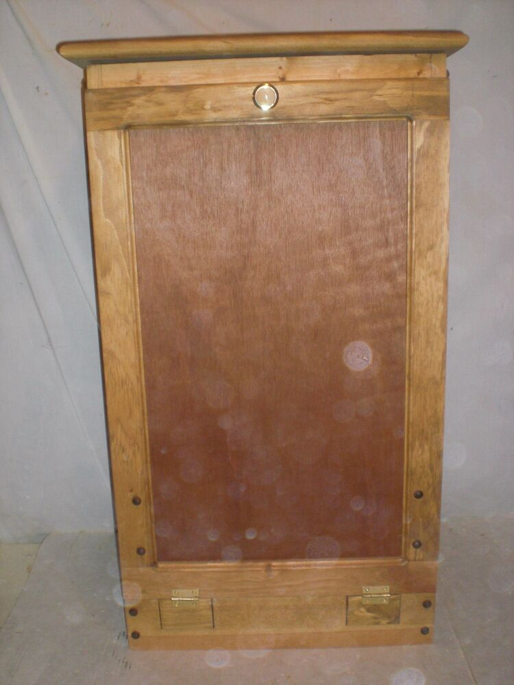 wooden pull out trash bin for the kitchen  eBay
