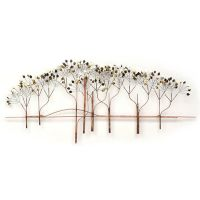 Trees Wall Art Sculpture Modern Earth Tones Metal Nature ...