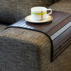 Couch Sofa Armrest Wrap Tray Table With Side Storage Slot Crossword Clue Trays - Thesofa