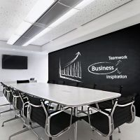 Chalkboard Vinyl Decal Office Wall, Open Space Scrum