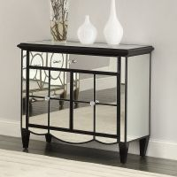 Storage Cabinet Chest Mirrored Accent Table Console Buffet
