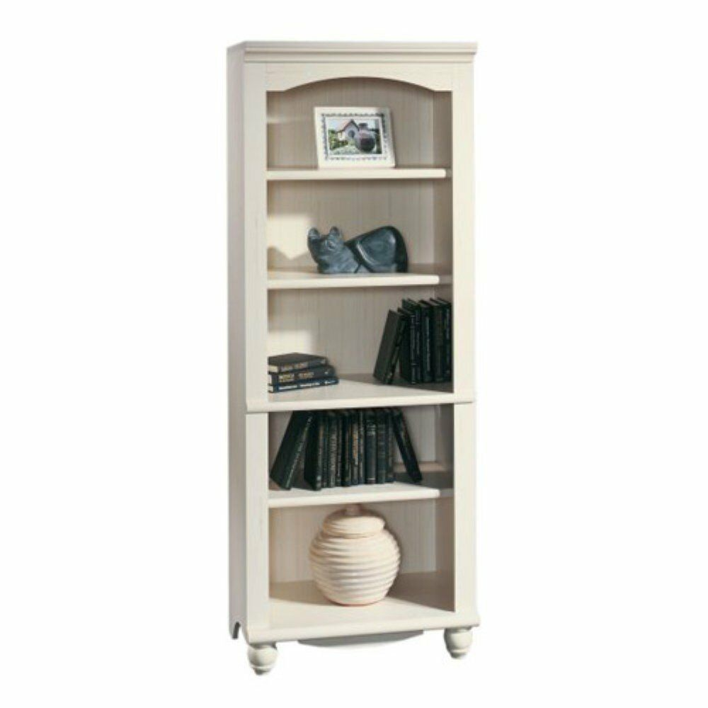 Sauder Harbor View Bookcase  Antique White White  eBay