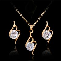 Fashion Women Rhinestone Crystal Pendant Necklace Chain