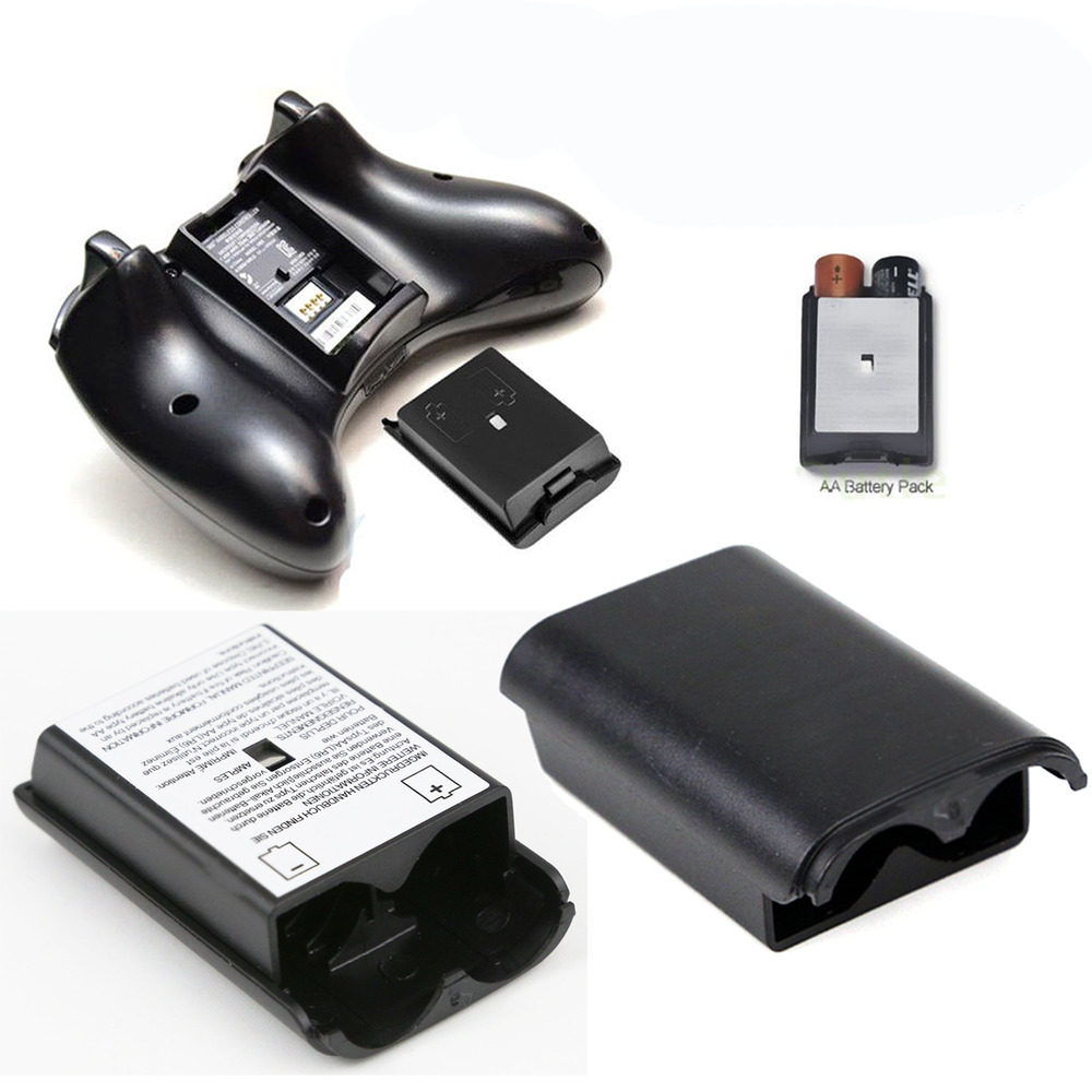 AA Battery Pack Back Cover Shell Case Kit For Xbox 360