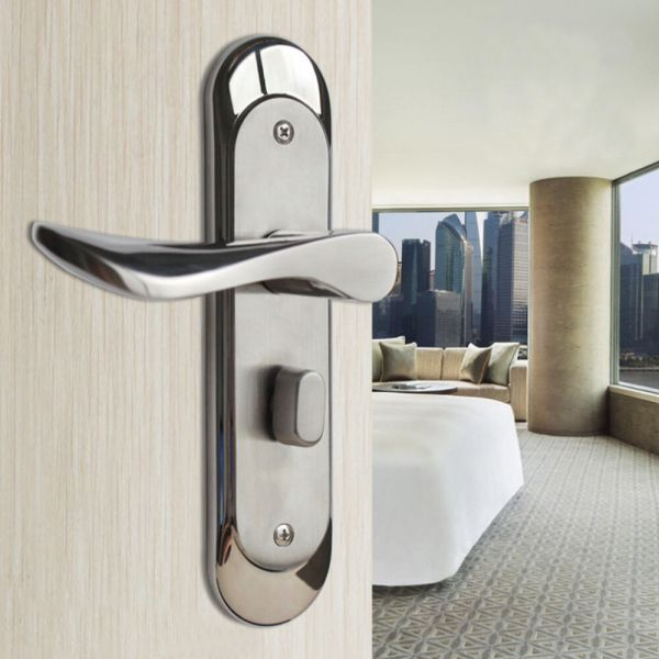 Privacy Door Security Entry Lever Mortise Stainless Steel Handle Locks Set