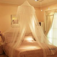 New White Round Lace Insect Bed Canopy Netting Curtain ...