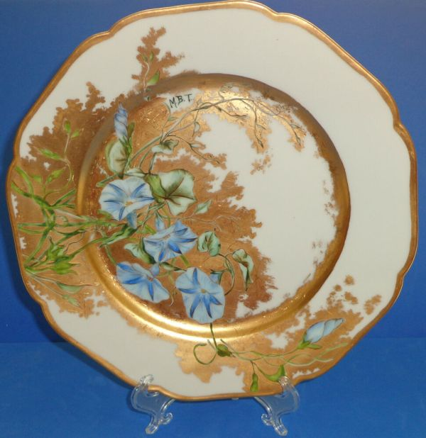Antique Haviland Limoges Porcelain Plate Hand Painted Gold