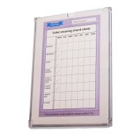 Polycarbonate checklist check sheet holder A4 write on ...
