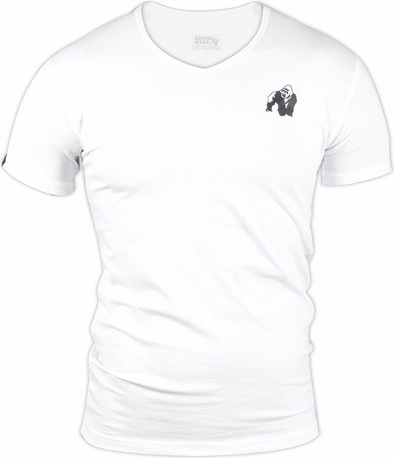 Gorilla Wear Essential V-Neck T-Shirt White Weiß