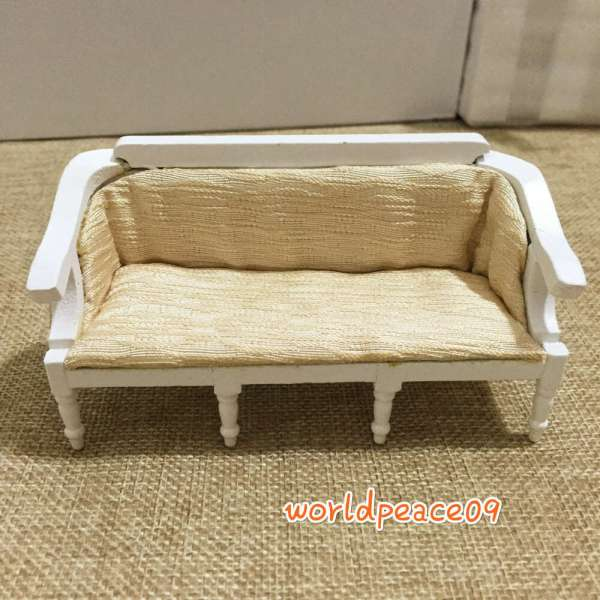 Dollhouse Miniature Plain Couch Sofa Scale Model White eBay