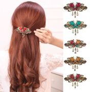 women vintage crystal butterfly
