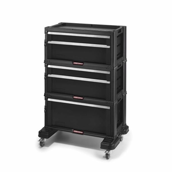 Craftsman Tool Chest 5 Drawer Rolling Mobile Box Cabinet Storage Stackable