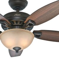 "Hunter 44"" New Bronze Ceiling Fan with Light 
