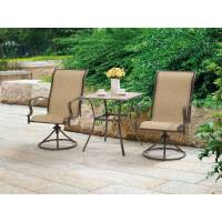 Outdoor 3 Piece Bistro Set Swivel Rocker Chairs Table ...