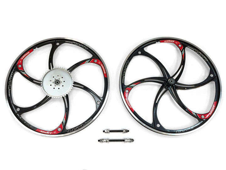 Aluminum Wheels with 44T Sprocket HY-22 (Black) 80CC Gas
