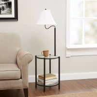 "54"" Glass End Table NEW Combo With Built In 3-Way Floor ..."