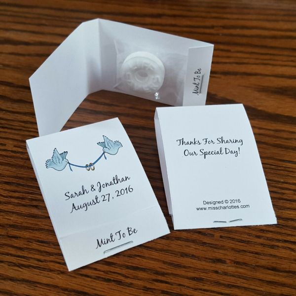 50 Personalized Wedding Mintbook Party Favors Mint Book
