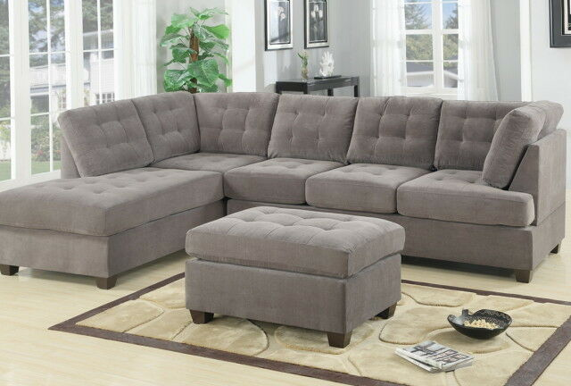 ashley red leather sofa sleeper queen bed contemporary 3pc grey sectional microsuede reversible ...
