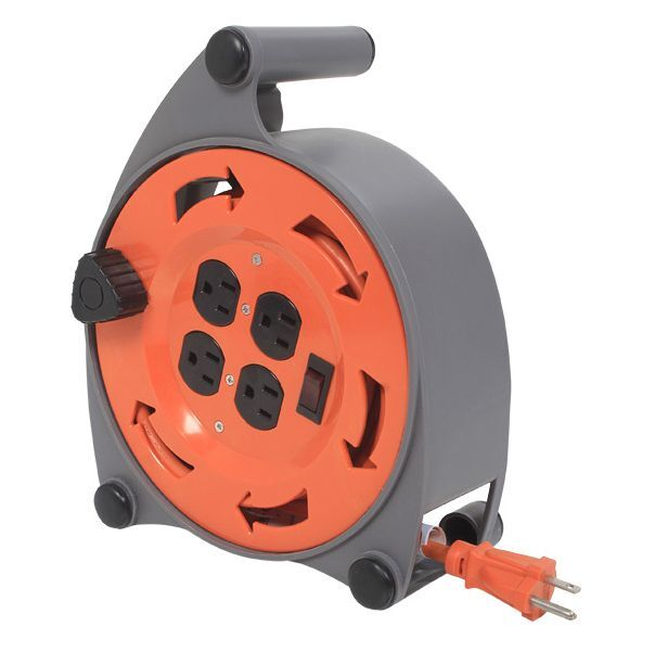 extension cord reel 7 prinzessinnen und jede menge drachen hdx retractable with 4 outlets 20 ft 16/3 heavy duty new 827214000042 | ebay