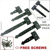 Tee Hinges DECORATIVE BLACK Heavy Duty T Strap Hinge Door ...