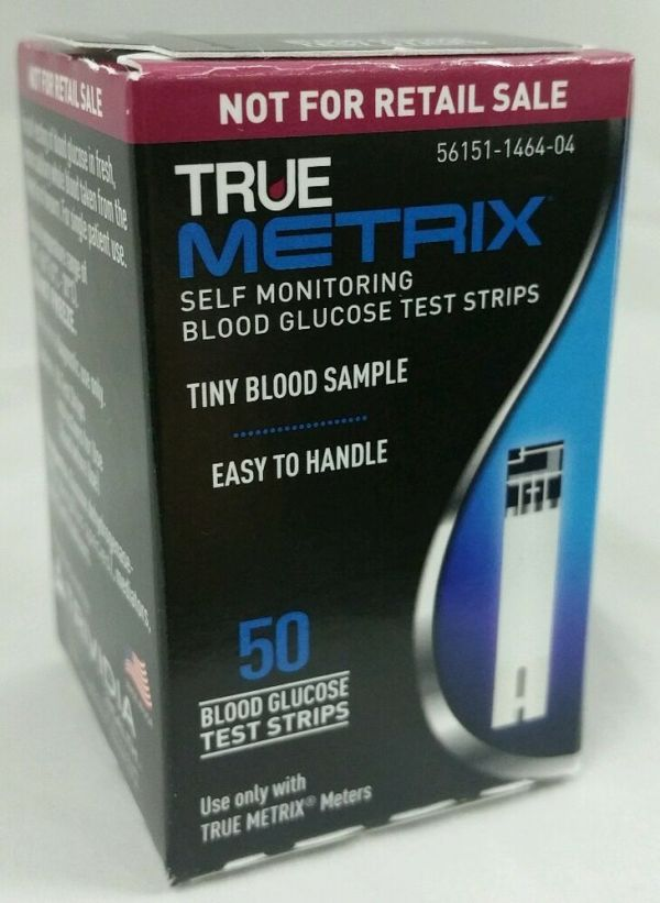 50 TRUE Metrix Glucose Diabetic Test Strips by Trividia
