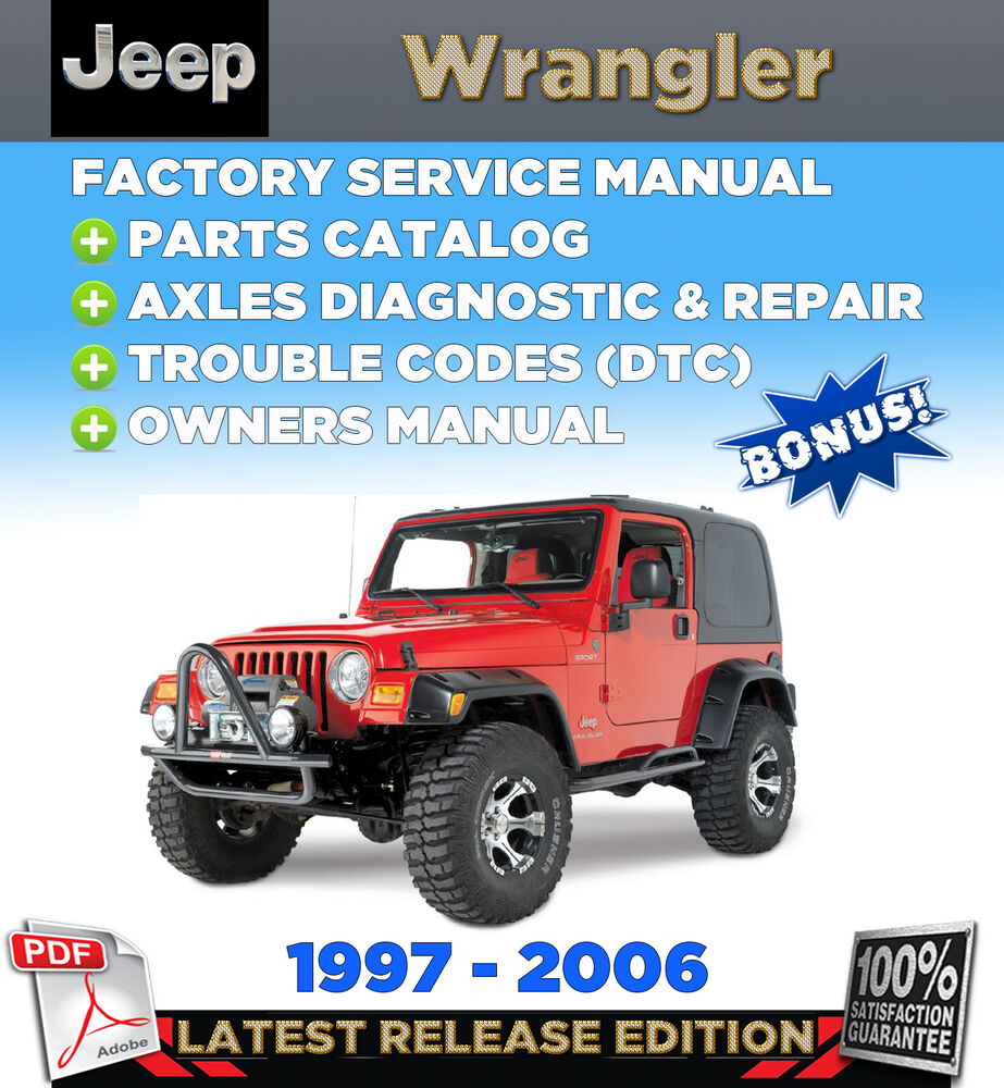 99 jeep wrangler wiring diagram cross functional tj 1997 - 2006 2005 2004 2003 service repair manual +parts catalog | ebay