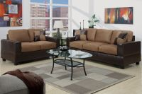5pc Modern Micro suede Sofa and Love Seat Living Room ...
