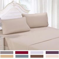 1800 TC 4 Piece Bed Sheet Sets Deep Pocket Queen Cal King