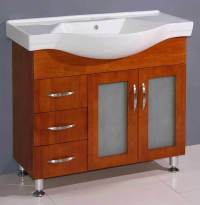 """36"""" Bathroom Vanity Cabinet with Porcelain Top and Sink ..."""